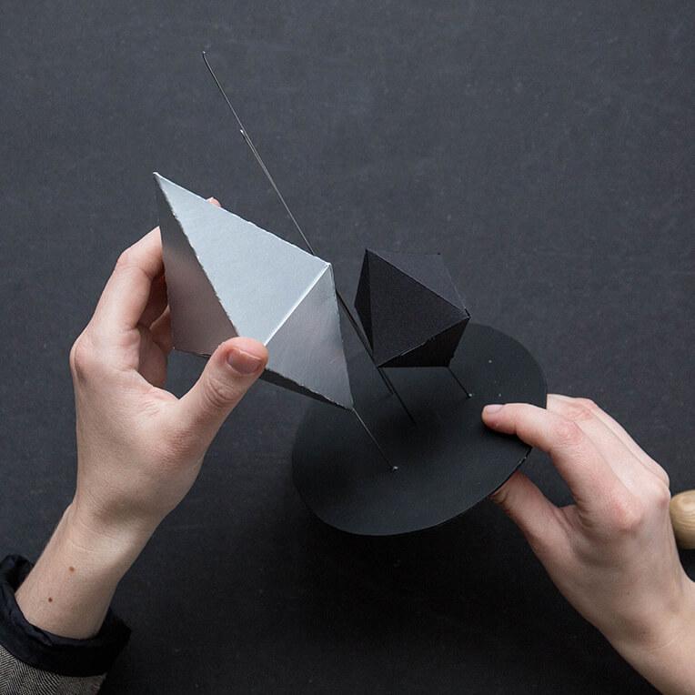 Papierdiamanten DIY