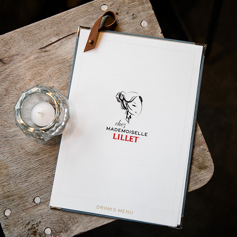 DIY Lillet Menu cards