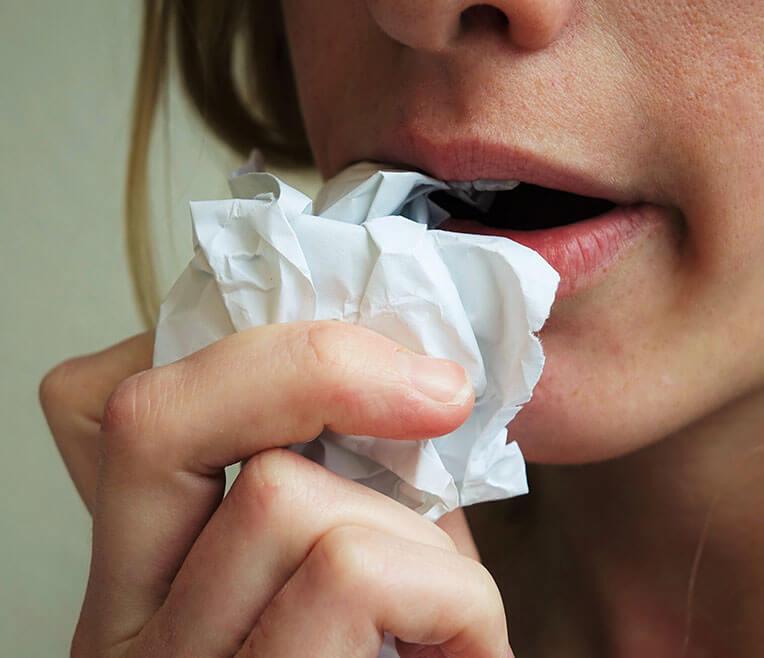Pica – Wenn sich Menschen von Papier ernähren