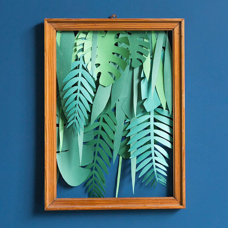 DIY Paper Jungle in a frame