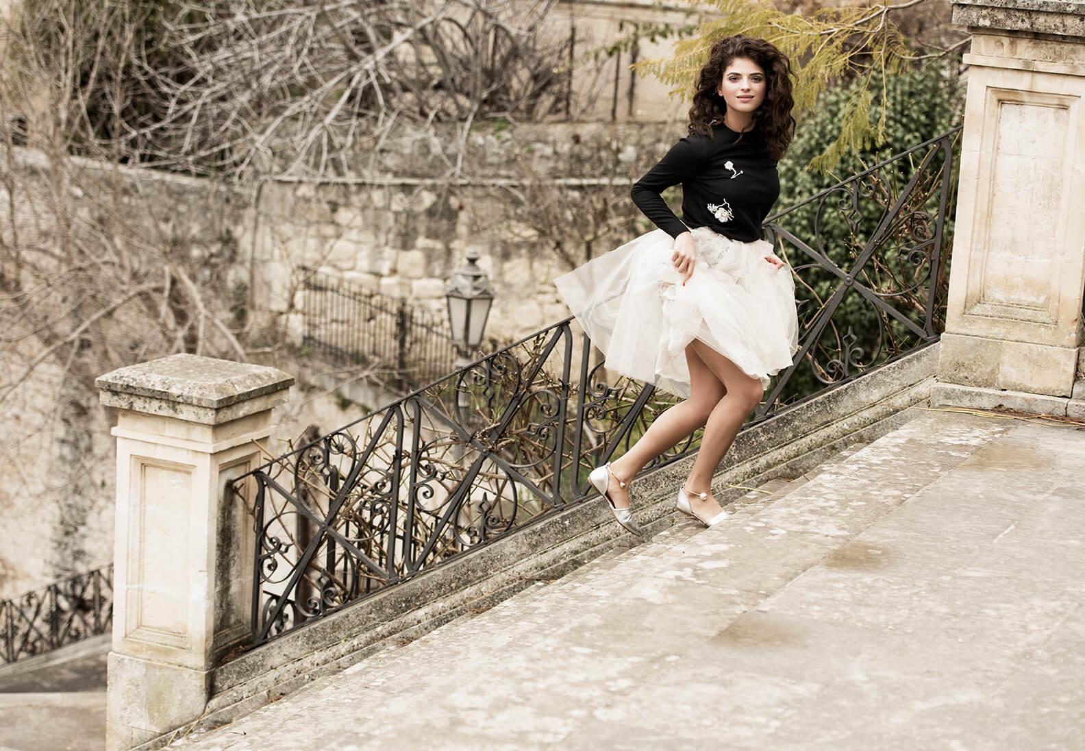 Fashion Shooting mit Spitze in Italien