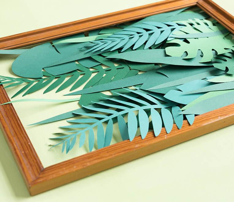 DIY Tutorial: Papier Dschungel im Rahmen