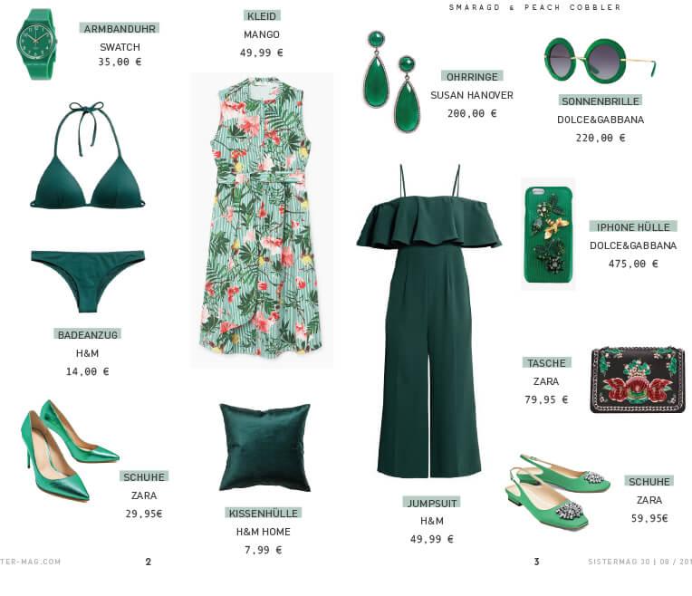 Produktcollage Smaragd
