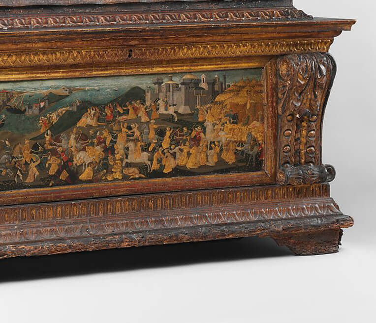 Splendid Spalliera and Cassone Paintings