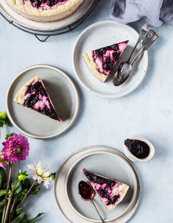 Recipe: »Chickpea Blueberry Cheesecake«