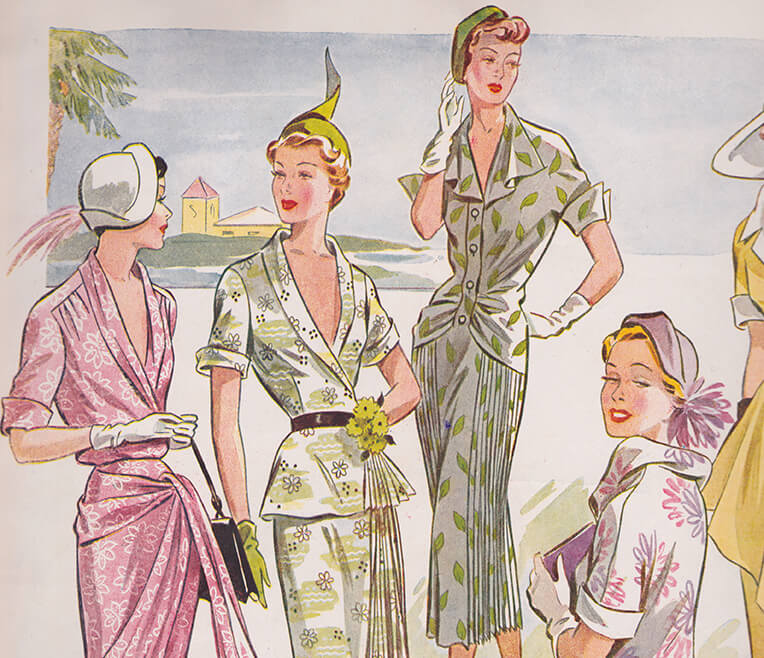 Blusige Zeiten – die Modemagazine der 1950er Jahre