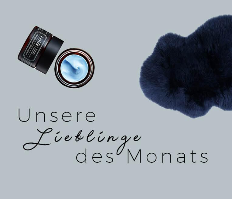 Produktcollage »Mitternachtsblau & Cognac«