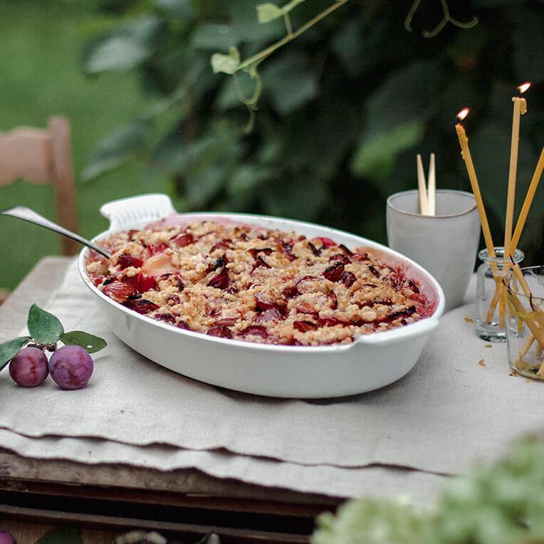 Recipe »Warm crumble cake«