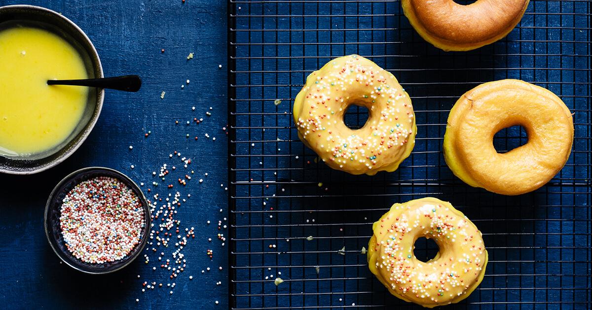 Recipe Lemon Saffron Doughnouts With Lemon Glaze