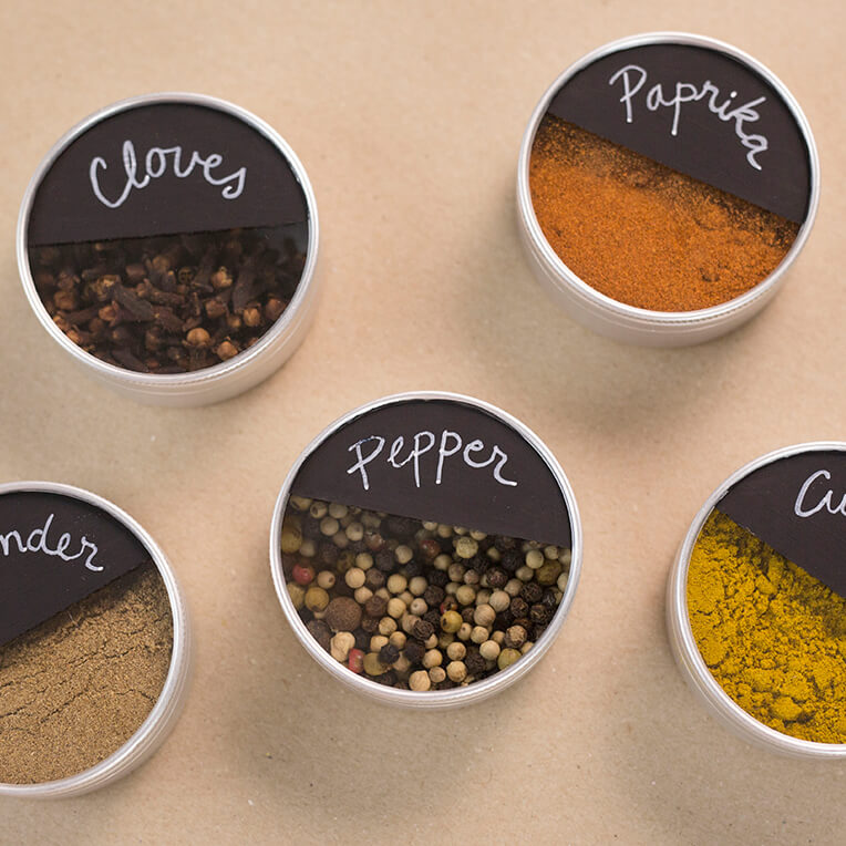 DIY Magnetic Spice Jar