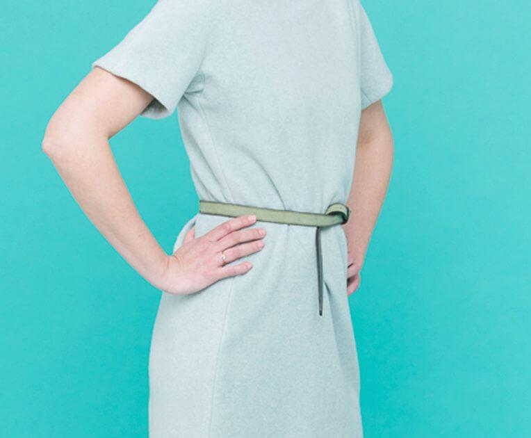 34/3 Mint Green Fleece Dress