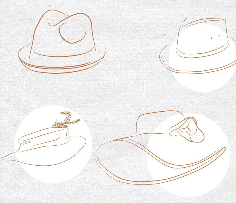 Nur wer Hut trägt, ist ein freier Mensch – Über verschiedene Huttypen