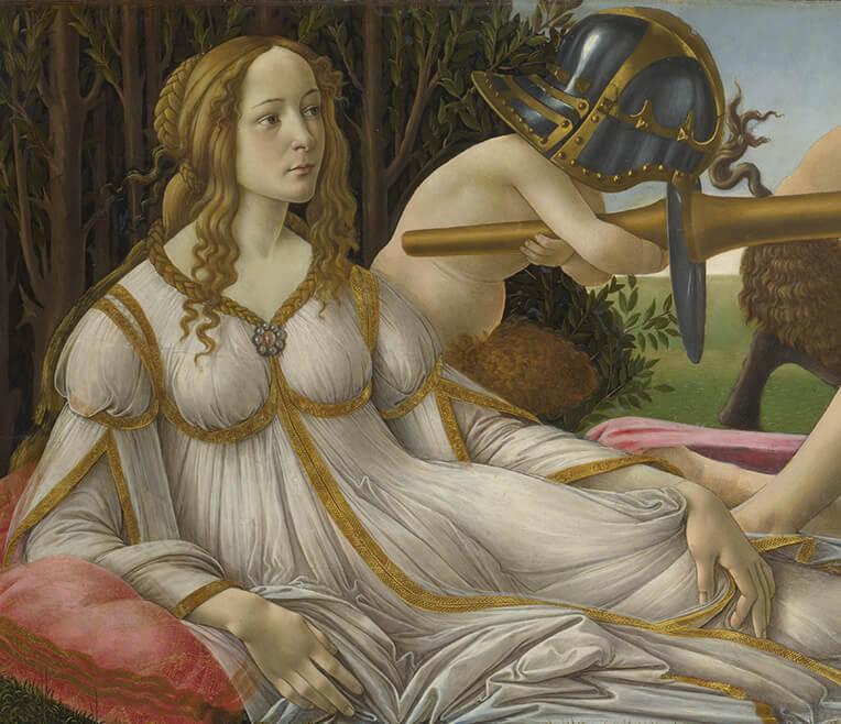 Sandro Botticellis »Venus und Mars« re-interpretiert in Literatur und Film