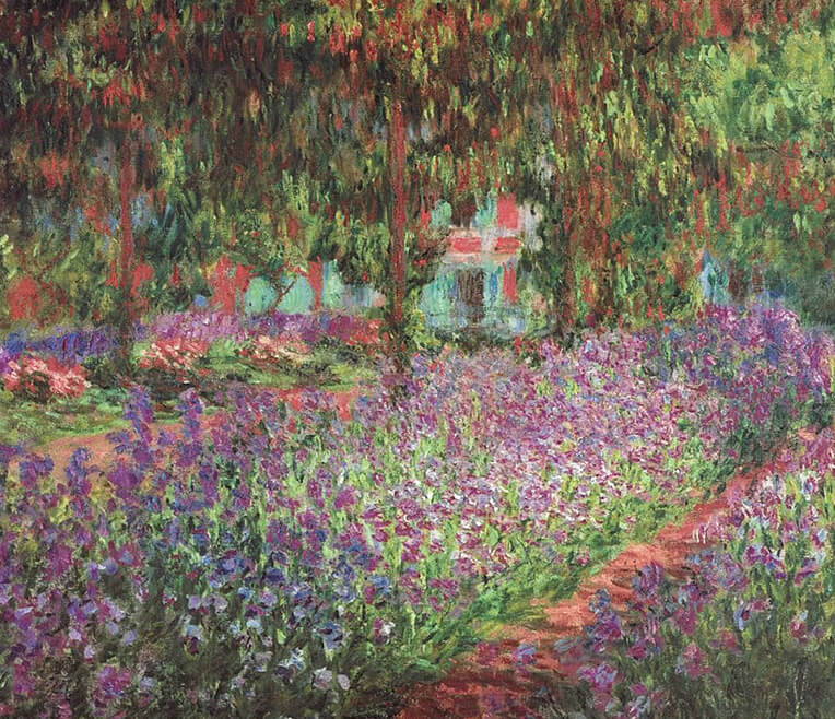 On the go with the easel – The gardens of Monet