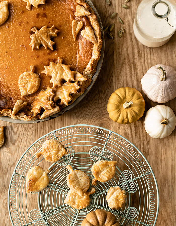 Recipe: »Pumpkin Pie with fall leaves«
