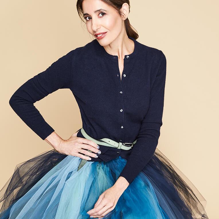 43/3 Light Blue Pleated Tulle Skirt