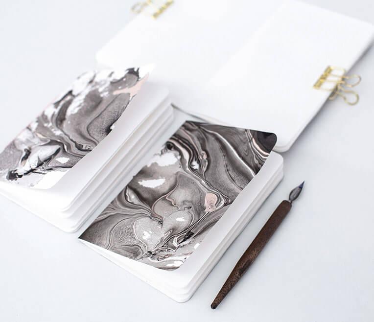#sisterMAGhandmade – Papier in Marmoroptik