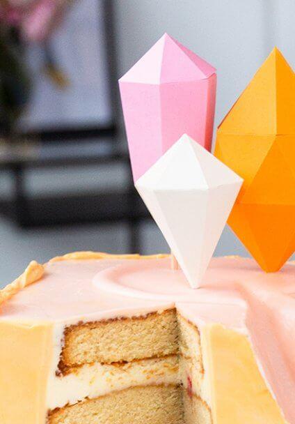 Geometrische DIY Cake Topper