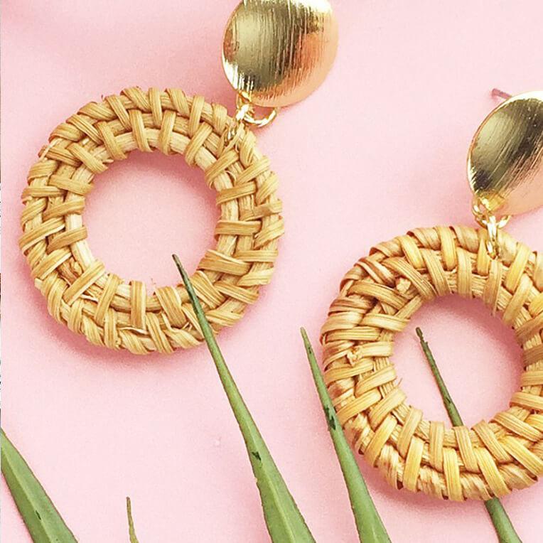 DIY »Easy Rattan Hoop Earrings«
