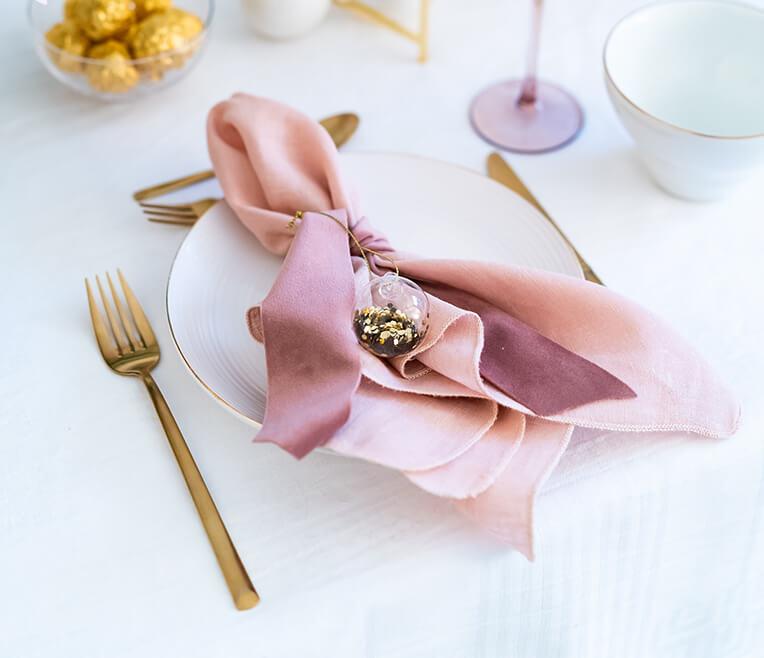 Tischdekoration des Monats »Goldrausch«