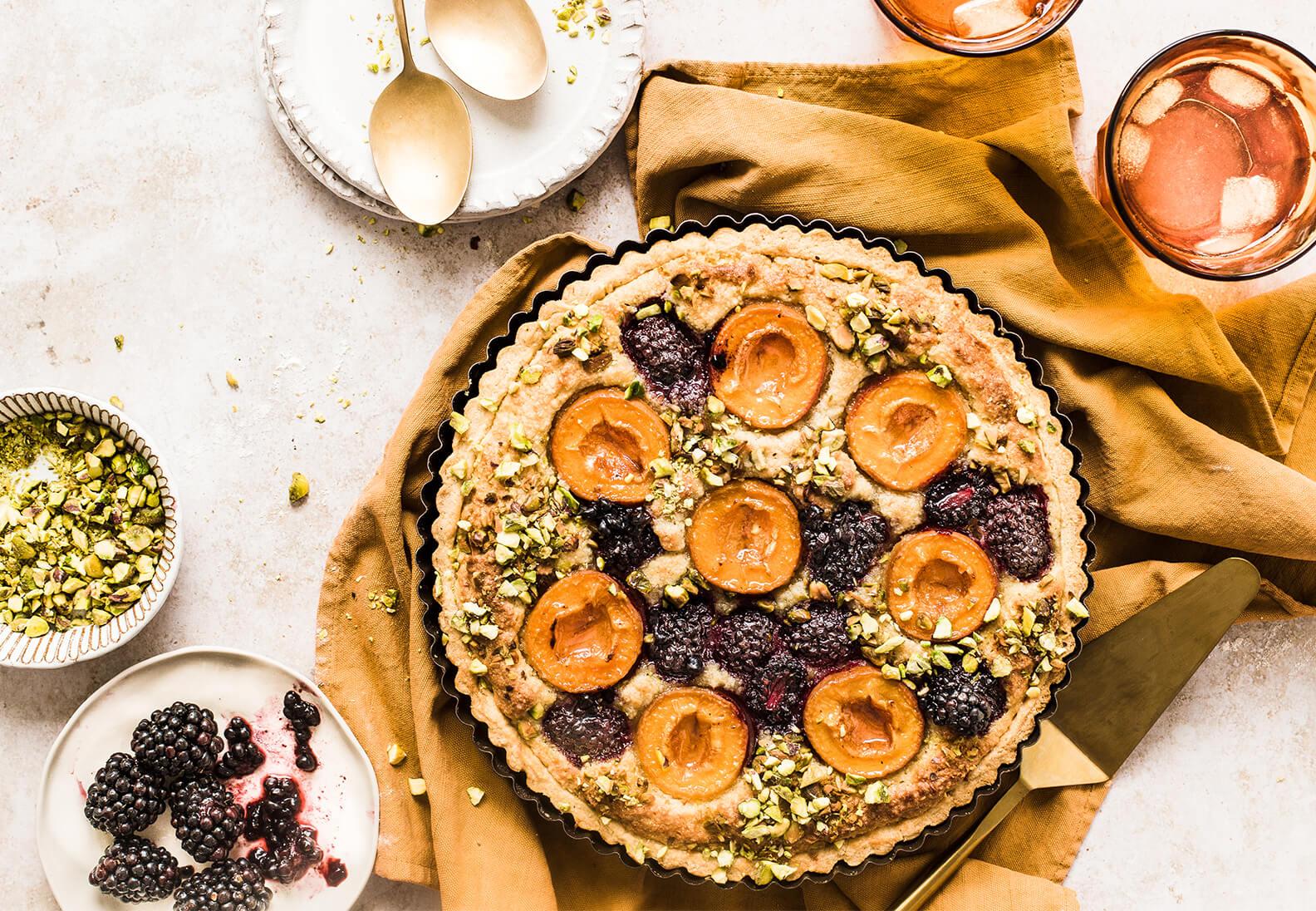 Gedeckte Herbst Desserts