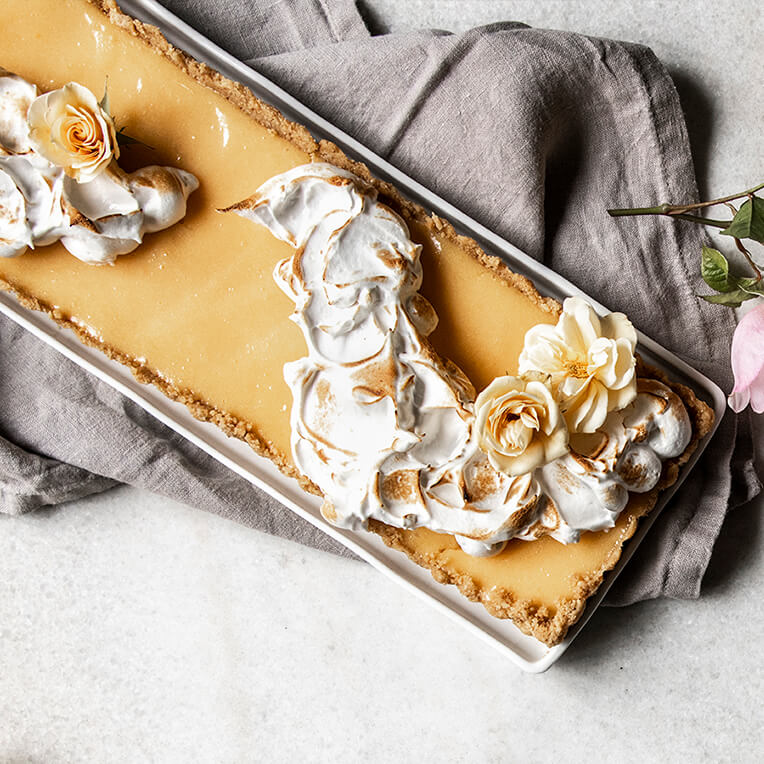 Recipe »No Bake Lemon Meringue Tart«