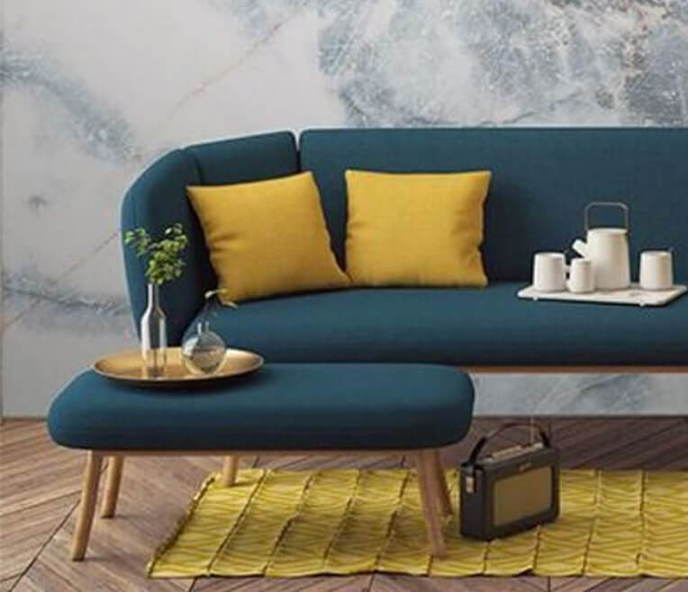 Interior design hacks in yellow, blue and nude