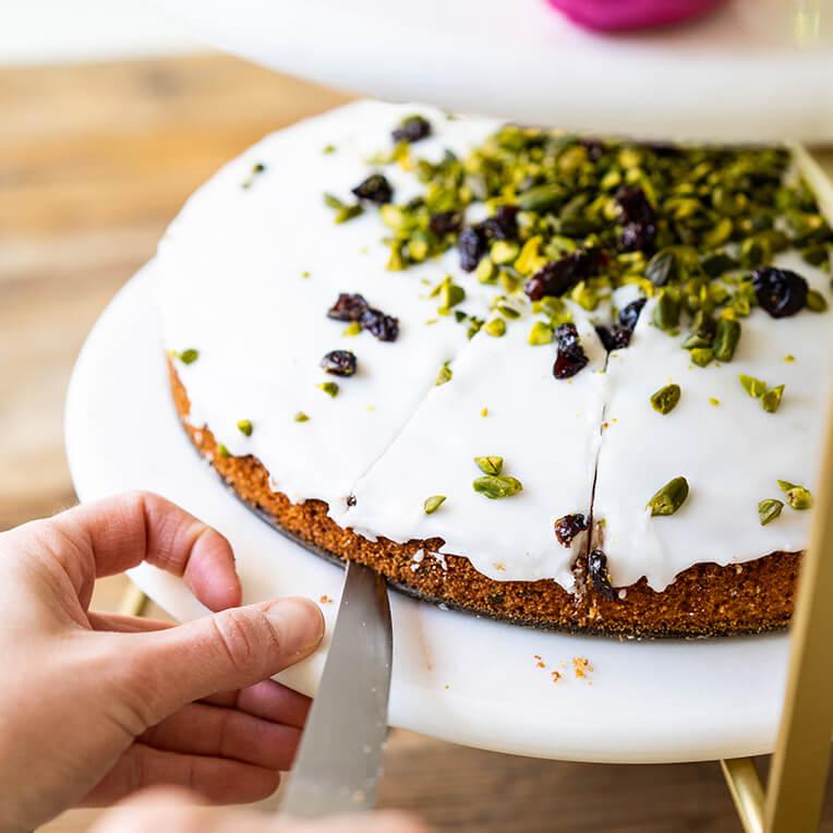 Osterrezept Pistazien Grieß Kuchen