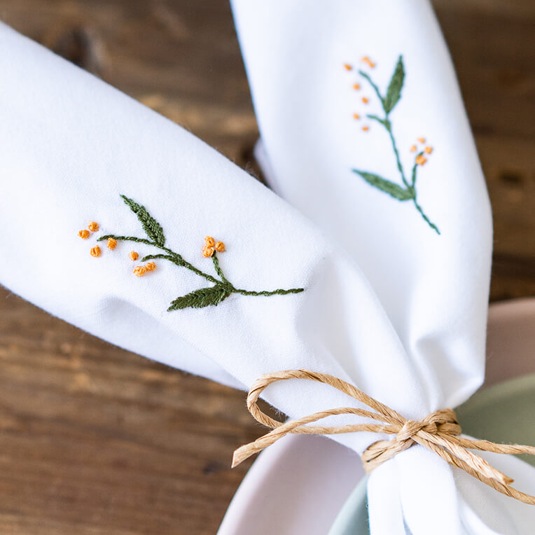 Embroider your own napkins