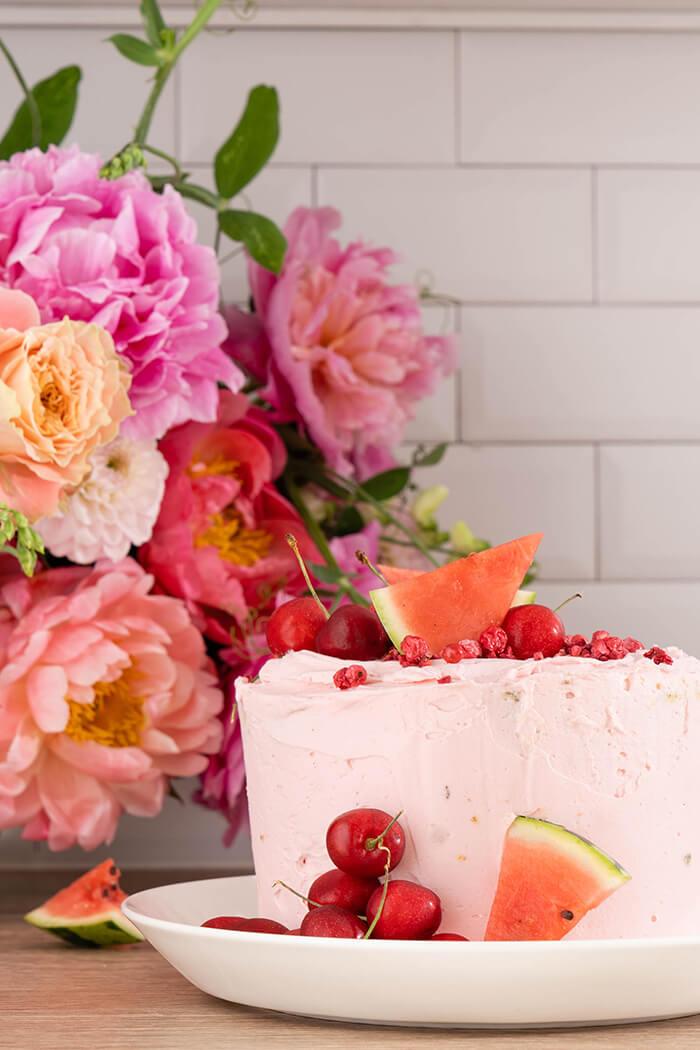 Rezept: »Vanillekuchen mit Schweizer Buttercreme«