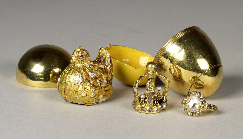 """Das """"Goldene Ei"""" August des Starken kehrt nach Jahren in das """"Grüne Gewölbe"""" der Staatlichen Kunstsammlungen Dresden zurück."""