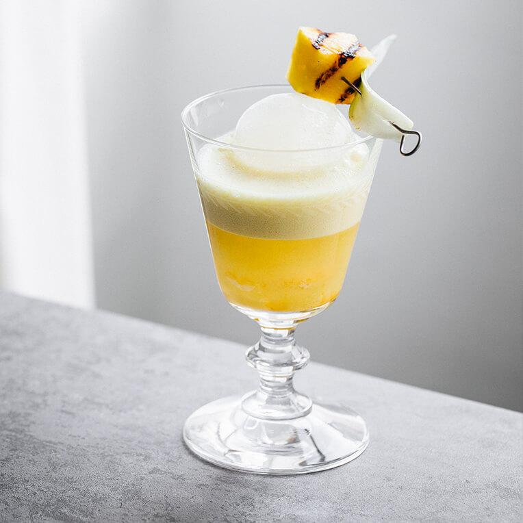 Summer Drink Cocktail Recipe »Golden Milk Pina Colada«