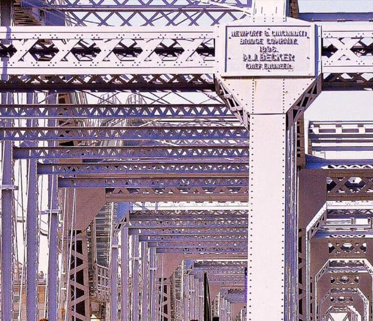 Wie man eine Brücke wieder in Stand setzt: einfach Lila anstreichen