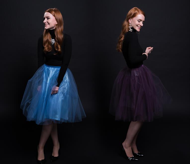The tulle skirt effect