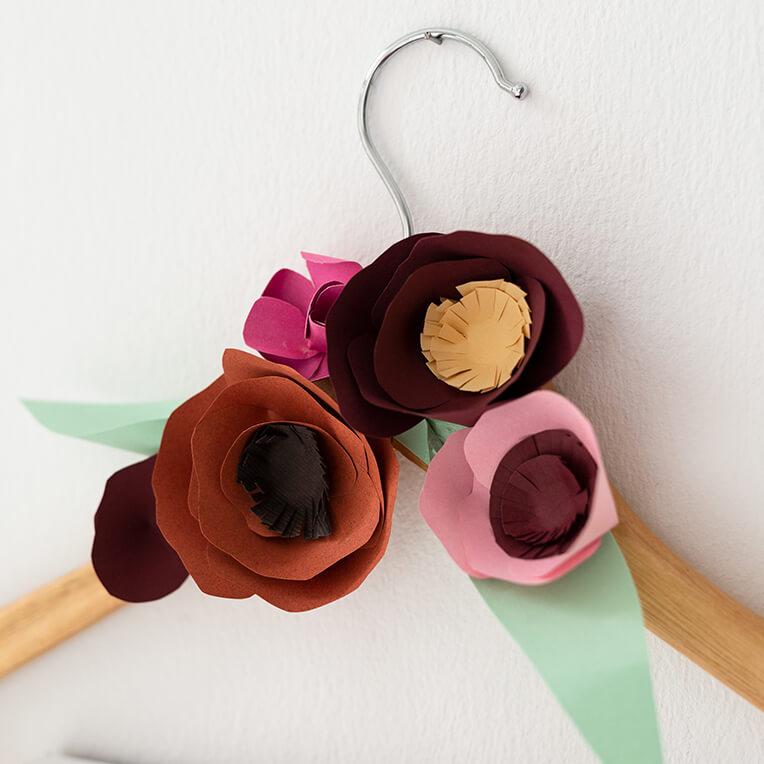 DIY Paper Flower Hanger