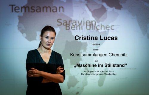 """""""Maschine im Stillstand"""" von Cristina Lucas, Kunstsammlungen Chemnitz"""
