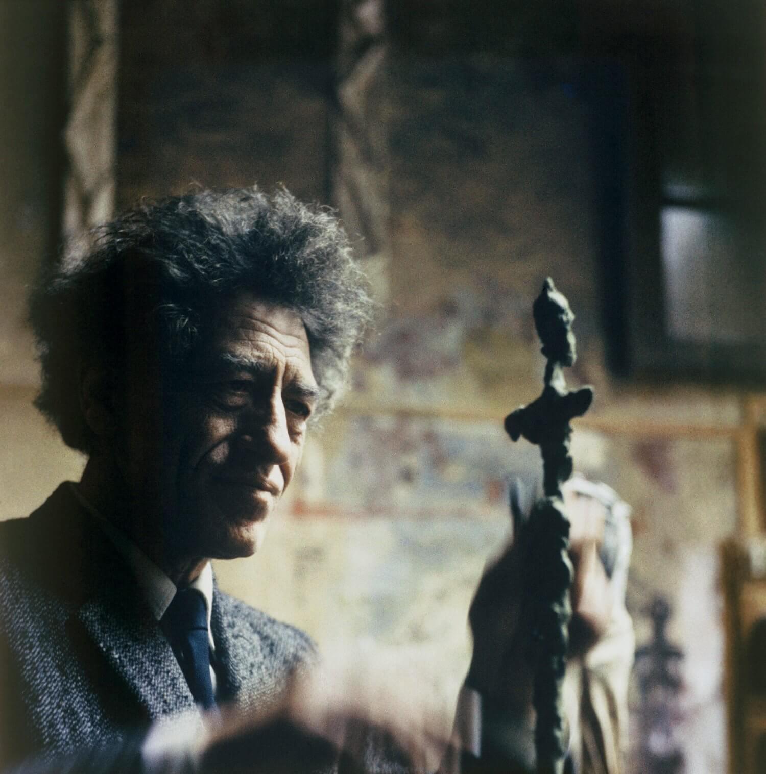 Alberto Giacometti in Sent (Schweiz/Unterengadin)