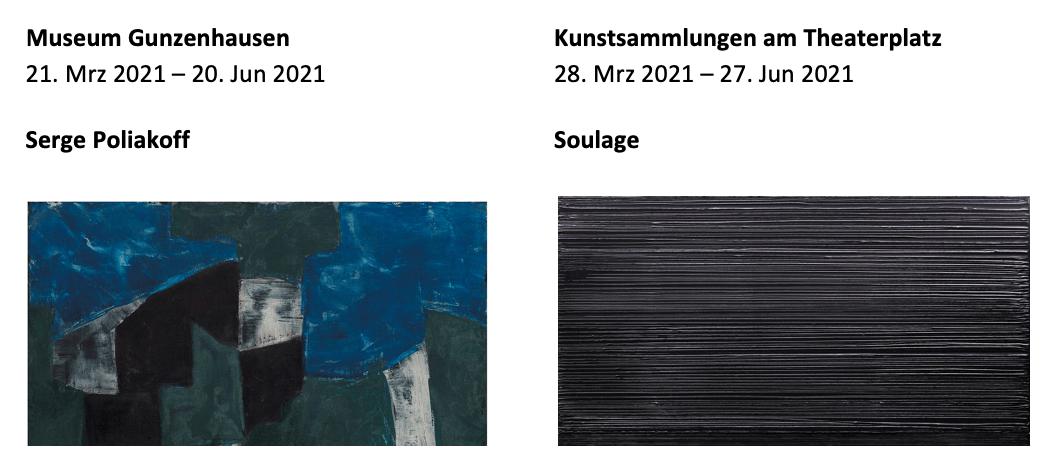"""""""Serge Poliakoff und Pierre Soulage"""" in den Kunstsammlungen Chemnitz"""