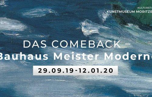 Zur Ausstellung »Das Comeback – Bauhaus Meister Moderne« im Kunstmuseum Moritzburg Halle/Saale