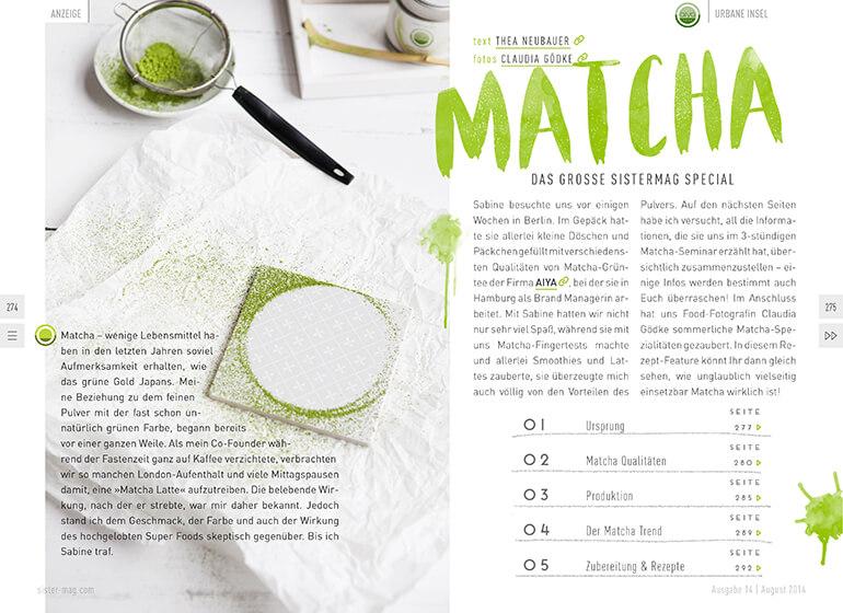 Matcha Guide mit aiya