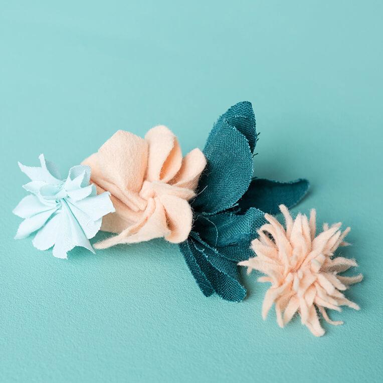 DIY Stoffblumen
