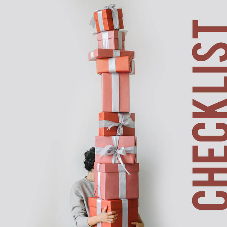 For the festive season: Checklist Christmas Gifts