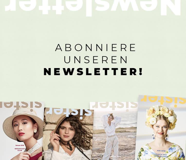 sisterMAG Newsletter Anmeldeformular