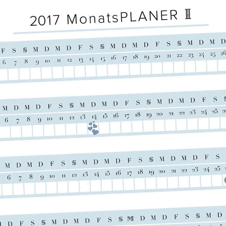 Monatsplaner für 2017 // Teil der H.A.P.P.Y. Challenge