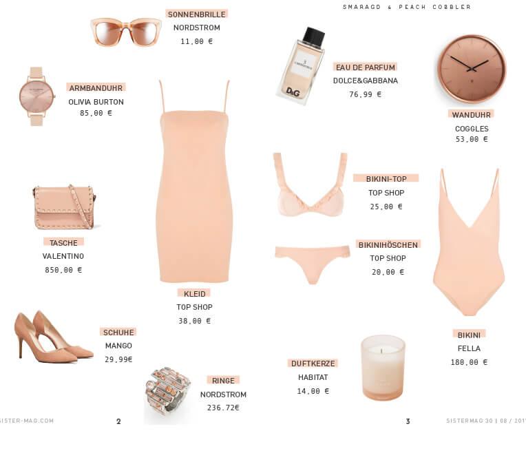 Produktcollage Peach