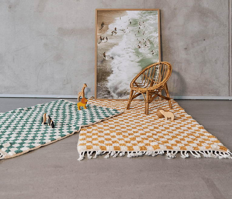 Modern labels for rugs from around the world