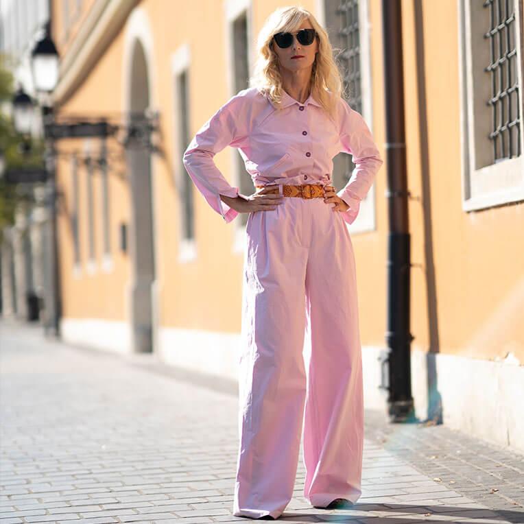 43/3 Pink Paperbag Pants