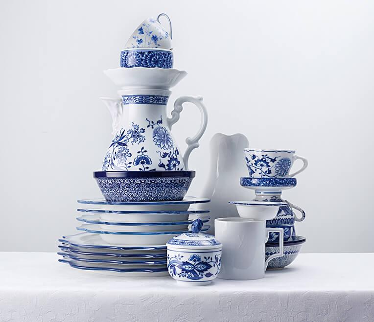 Blau-Weiss Zwiebelmuster