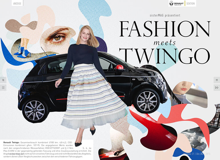 Fashion meets Twingo mit Renault