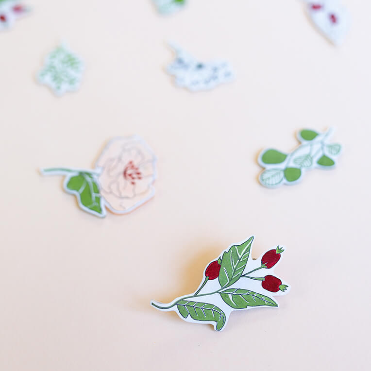 DIY Floral Pins